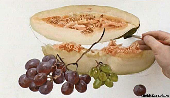 Как нарисовать виноград андрияки